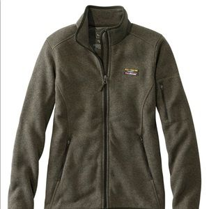 LL Bean Fleece Zip Up Kelp Green Womens Small